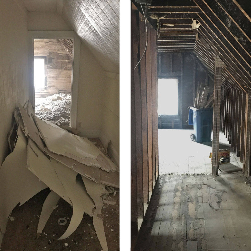 Demolition before and after